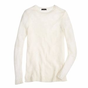 NWT J Crew Open Knit Relaxed Sweater Large Light